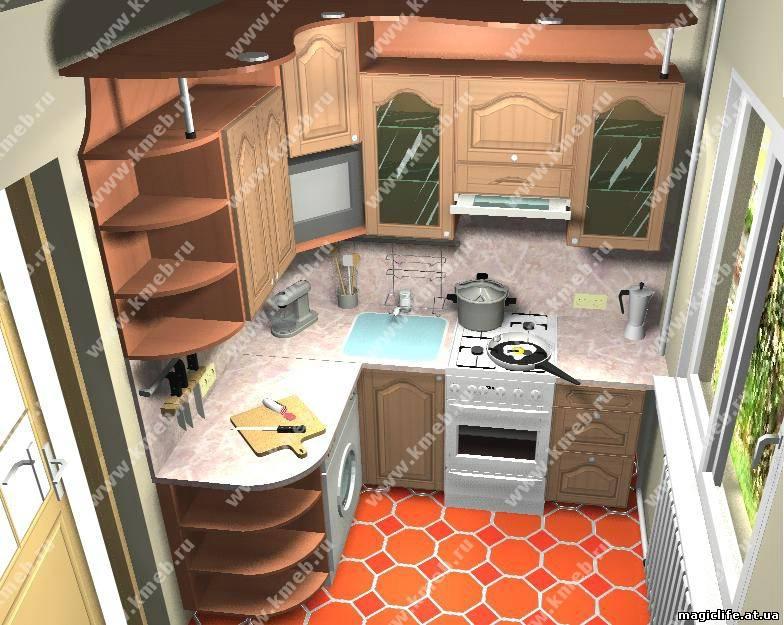 Дизайнерские идеи интерьера кухни в малогабаритной
